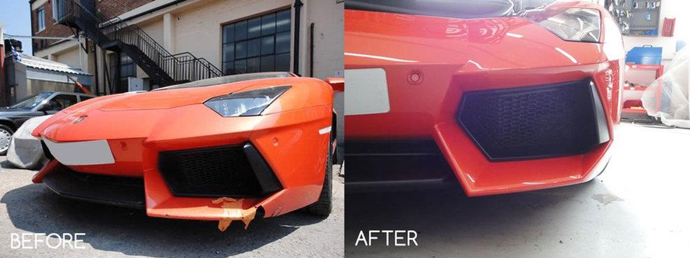 Lamborghini bumper repair