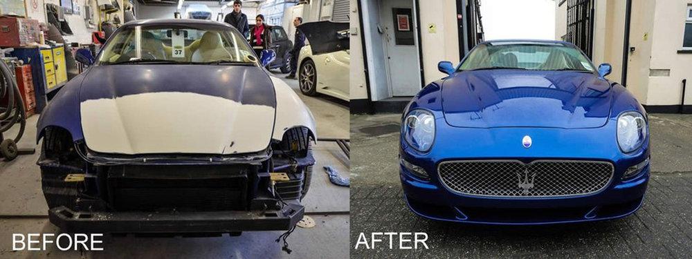 Maserati bumper repair