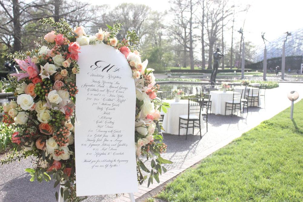 St Louis wedding florist Festive Couture Floral at the Missouri
