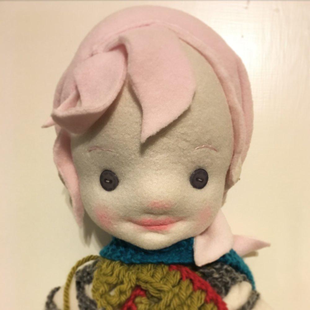 Fiber Art Child Fairy