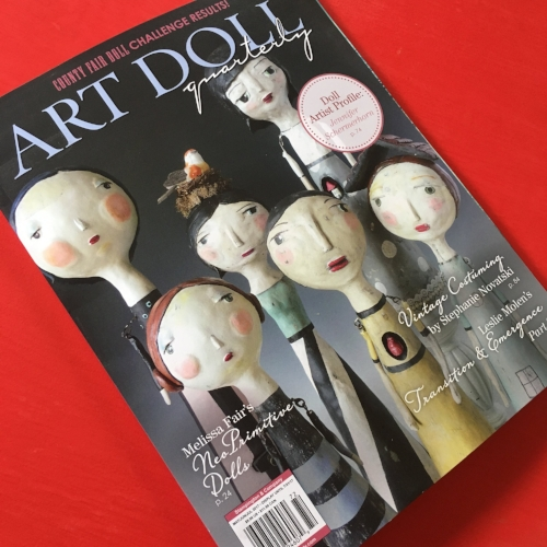 The Professional Bohemians in Art Doll Quarterly, Stampington and Company.JPG