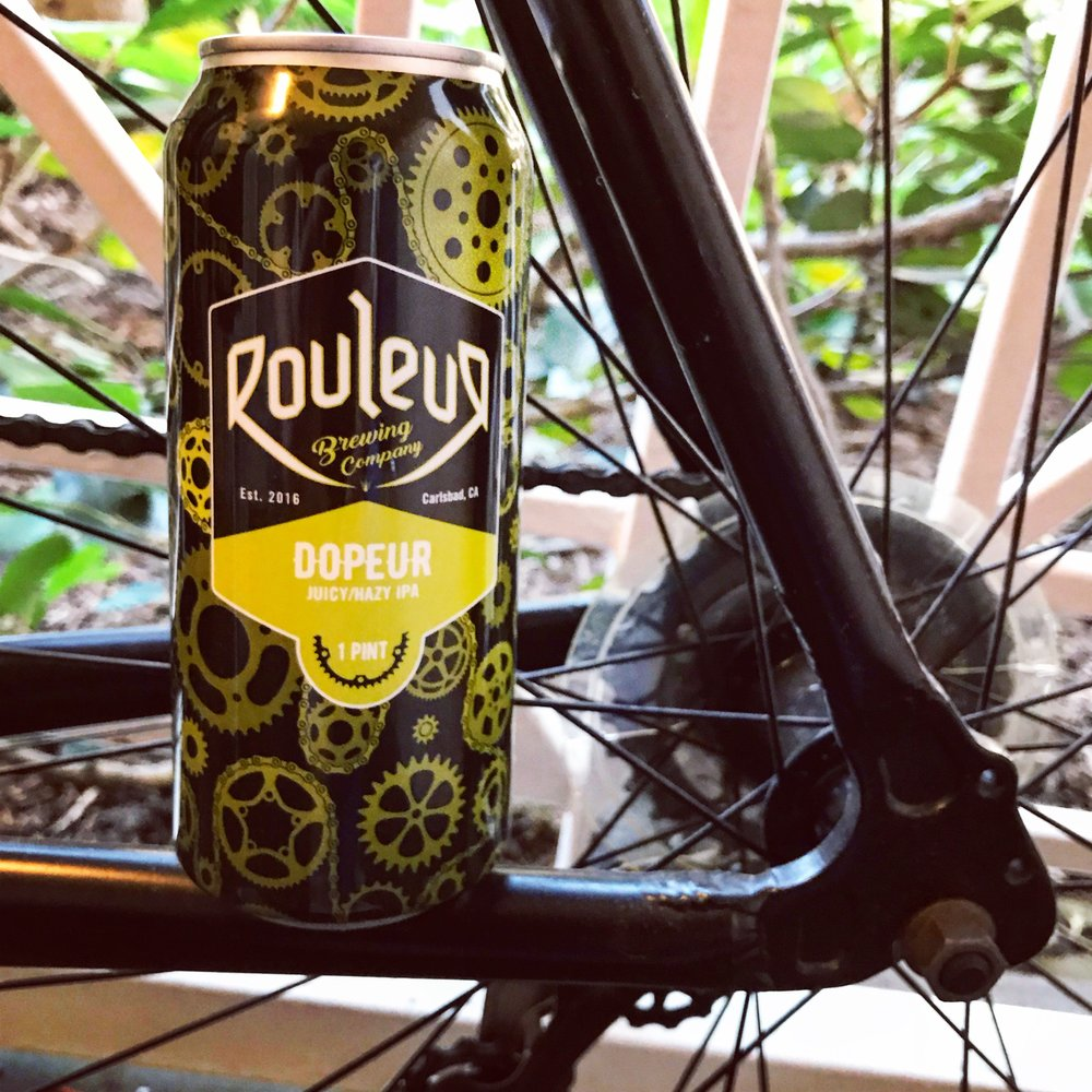 Rouleur Brewing's Dopeur on my bike.