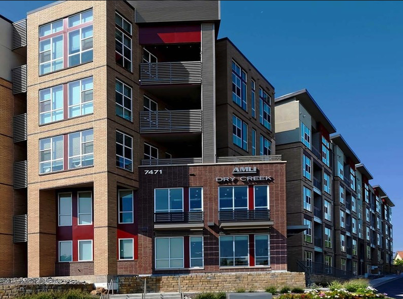AMLI Dry Creek's Denver Tech Center apartments are surrounded by a multitude of outstanding restaurants, shopping, entertainment and recreation. Our apartments are also in close proximity to numerous businesses in the Denver Tech Center, Inverness and the SE suburban corridor. Residents of our Centennial apartments enjoy easy access to any destination in the city or Rockies via I-25, Highway 470 and the Light Rail. Residents of AMLI Dry Creek's Denver Tech Center apartments will enjoy an array of exceptional amenities including a resort-style swimming pool, rooftop lounge with fire pit, grill stations, outdoor fireplaces, state-of-the-art fitness center, yoga room featuring fitness on demand, 24/7 business center, game room, coffee bar, bike repair & storage, electric car charging stations, pet spa, dog run and much more.