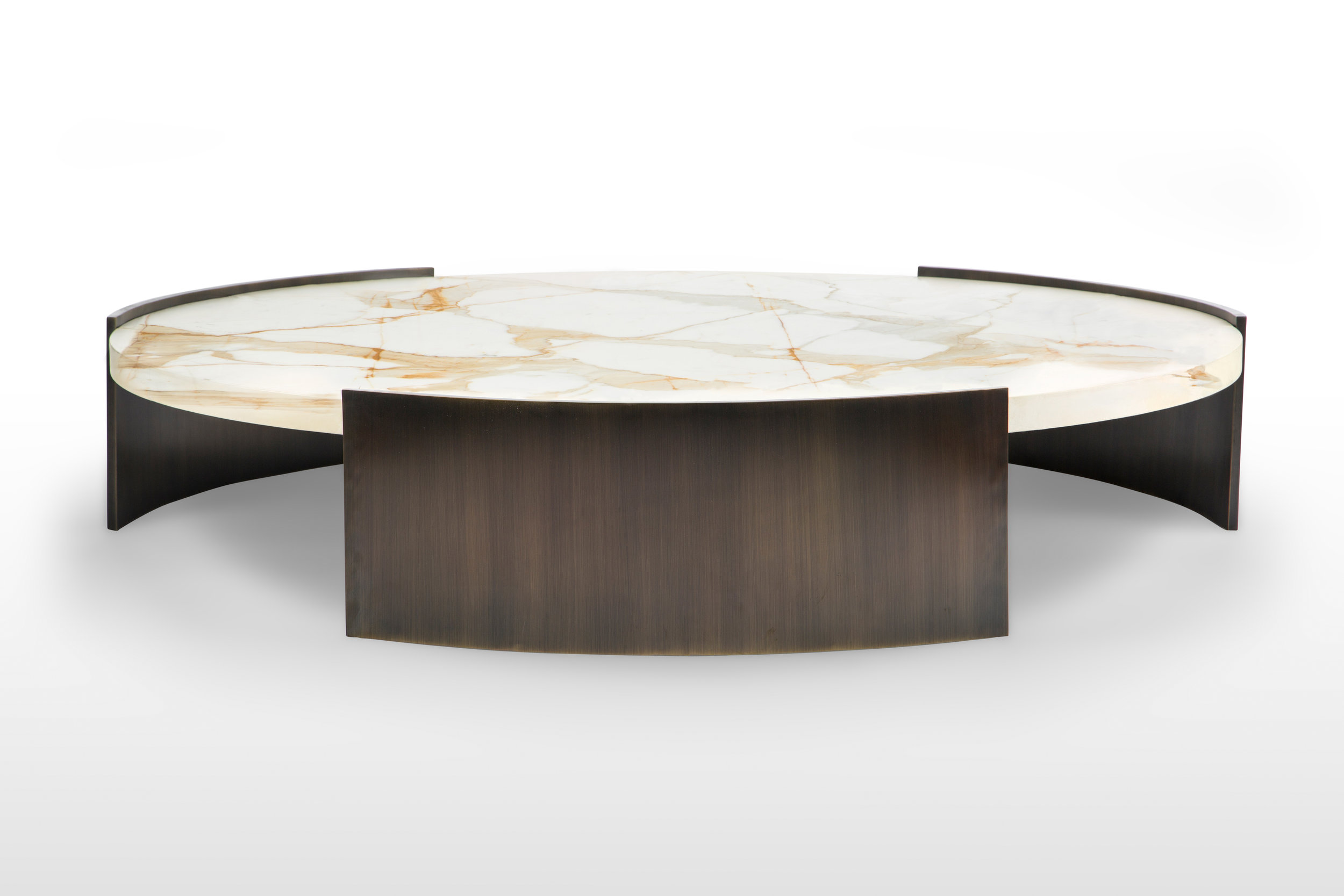 Summitridge Round Coffee Table Marmol Radziner Furniture