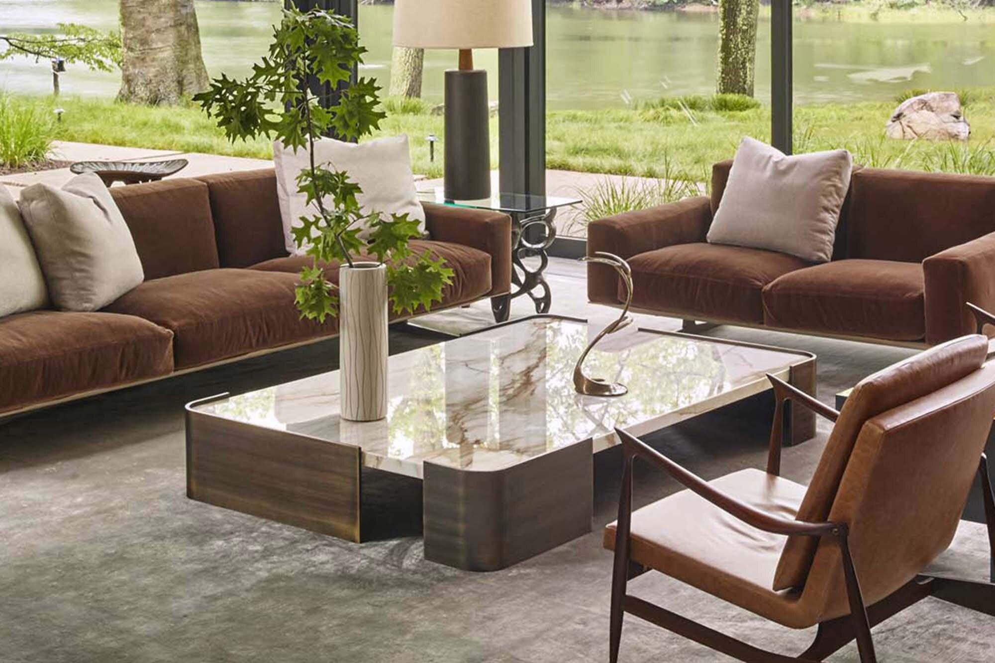 Summitridge Rectangular Coffee Table Marmol Radziner Furniture