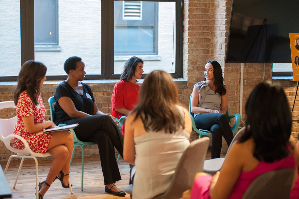 July 19, 2017 - we did it! we had a wonderful evening with incredible women sharing their stories. thank you to our sponsors: chicago woman magazine, breather, cabi and shred 415.
