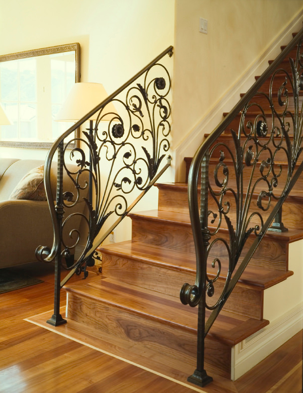 wood stair refinish