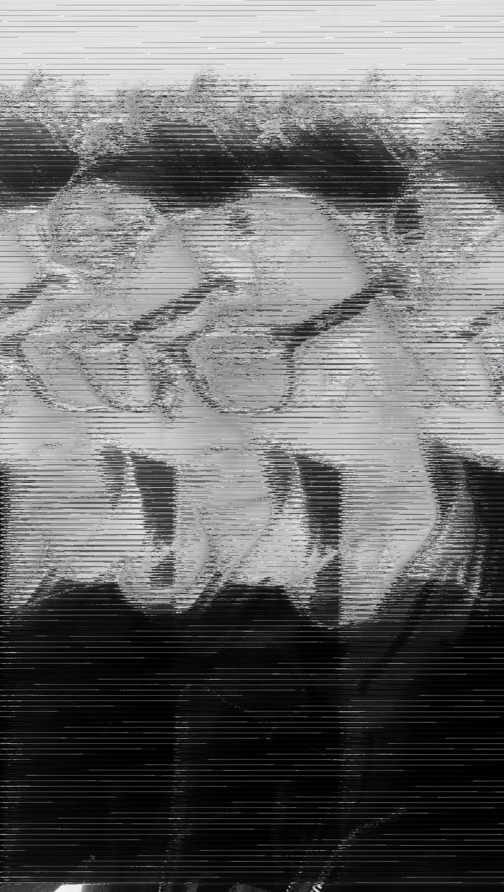 Glitched Image - The same image as above after been loaded into Audacity and distorted. This image has phaser, reverb, and wahwah effects rendered visually. Click the audio block bellow to hear this image.
