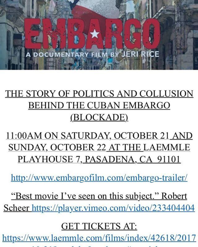 @Embargo#PasadenaLaemmleCuba#JFK#Missile Crisis 2.0