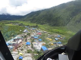 Landing at Samagaon