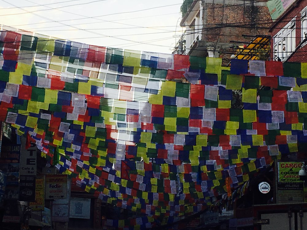 Prayer Flags in Thamel, Kathmandu