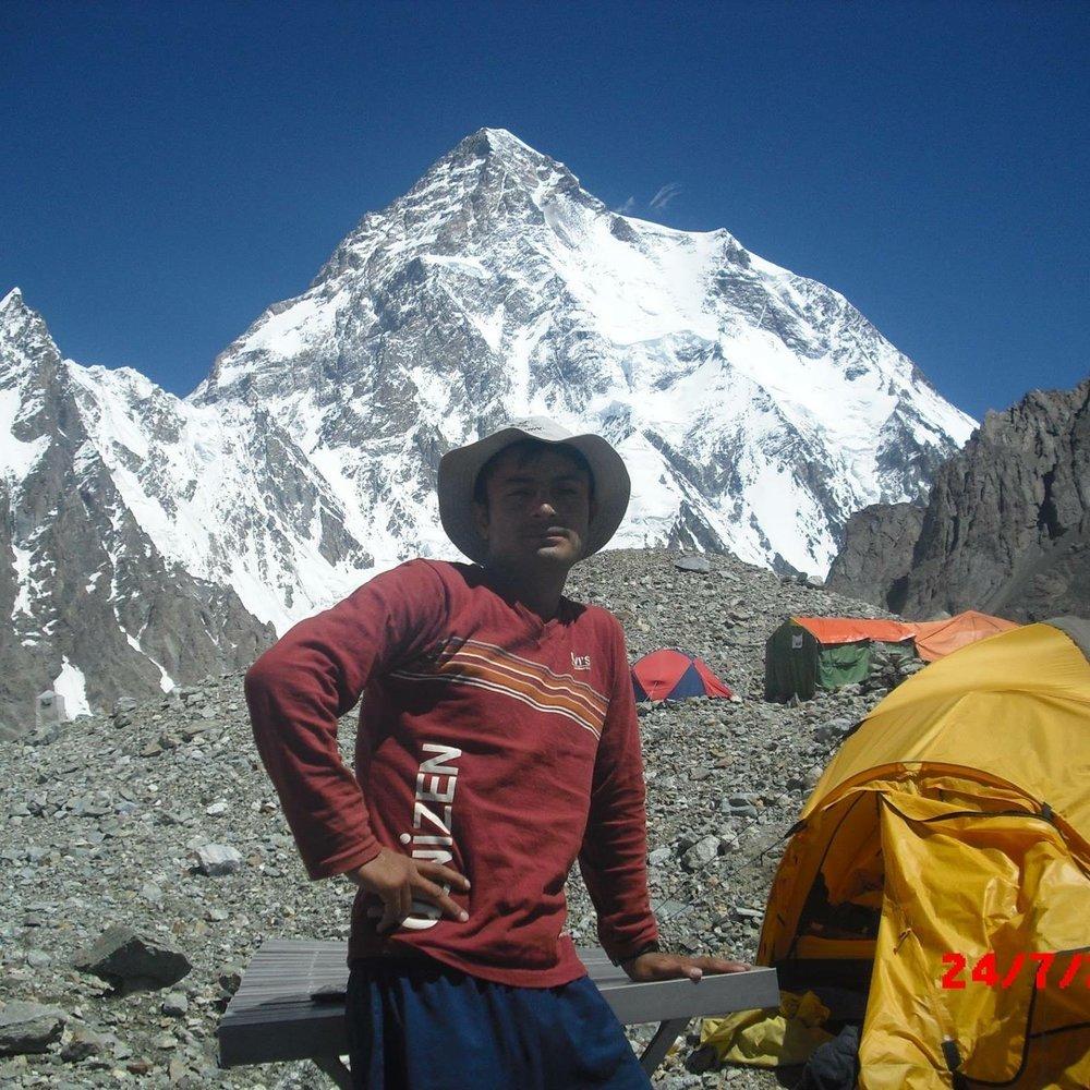 Ibrahim at K2 Base Camp  photo: Muhammad Ibrahim