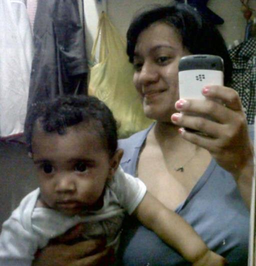Felicia Barahona with son, Miguel Barahon
