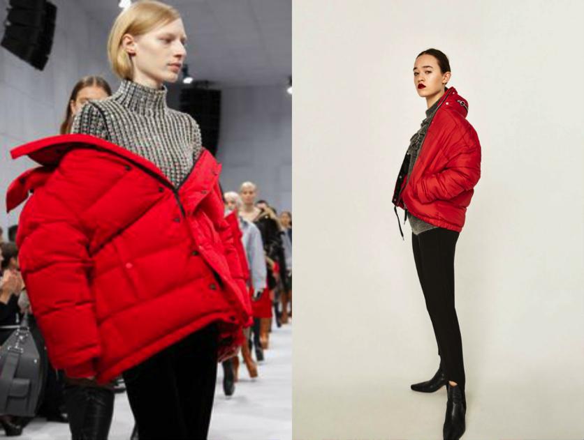 Balenciaga red coat - $1,629.00 / Zara Red Coat - $49.99