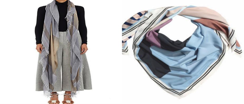 $495.00 / H&M color block scarf - $12.99