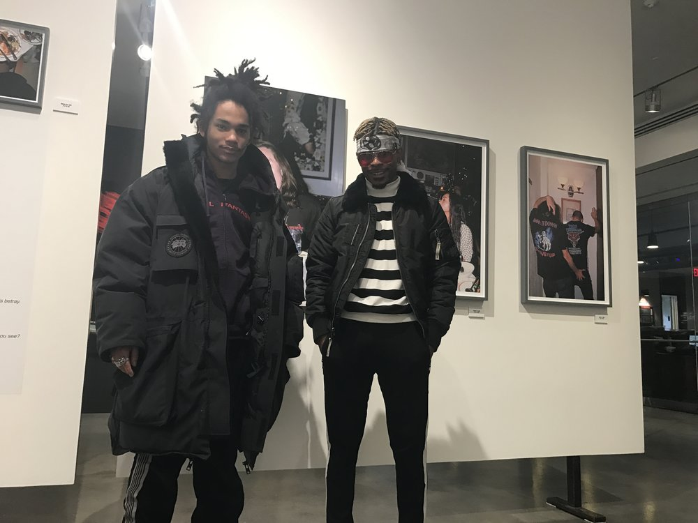 "Luka Sabbat and I at Milk Studios ""Hot Mess"" gallery"