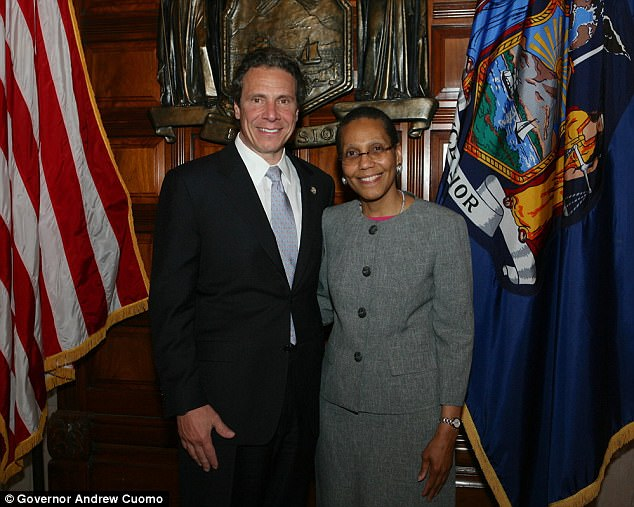 Judge Abdus-Salaam pictured with NY Governor Andrew Cuomo