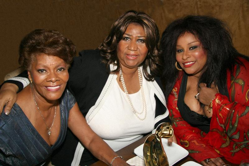 Left to right: Dionne Warwick, Aretha Franklin and Chaka Khan at the 20th Anniversary of the R&B Foundation