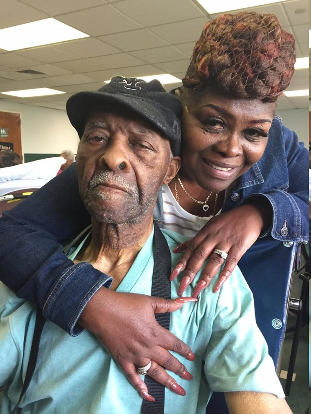 Cleveland Butler pictured, with daughter Sandra Butler