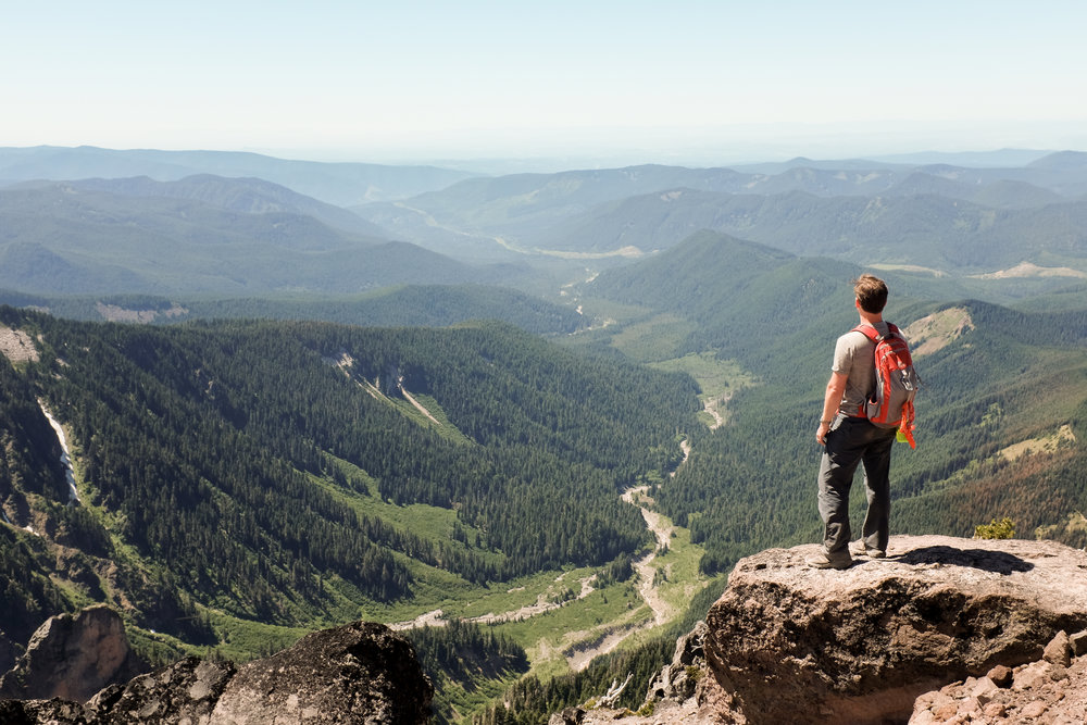 A grueling 7 mile hike up and up to this amazing view point, Mt Hood, Oregon