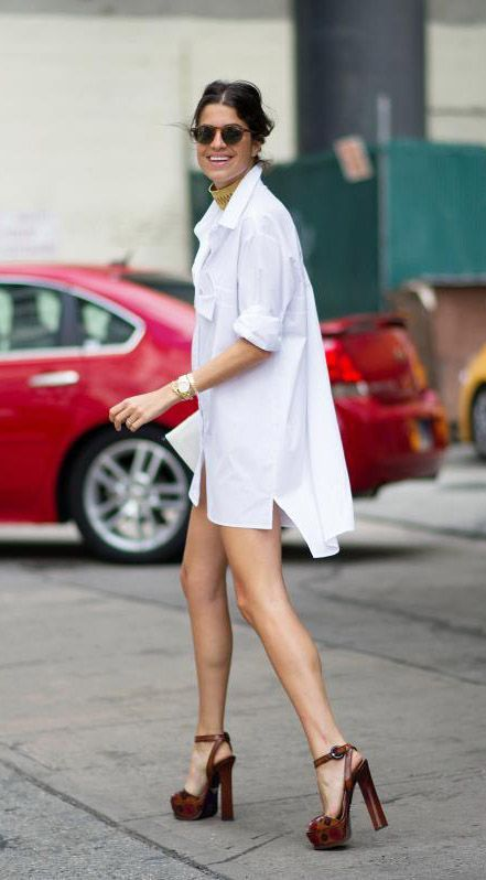man repeller white shirt