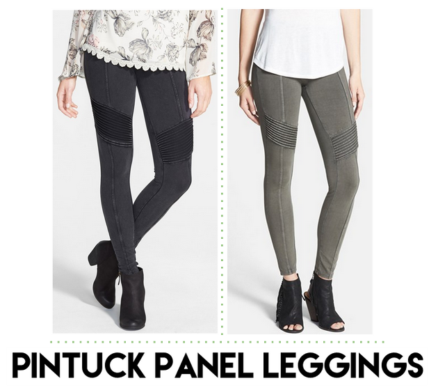 pintuck panel leggings nordstrom
