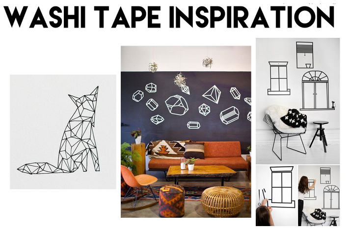 washi tape DIY baby nursery