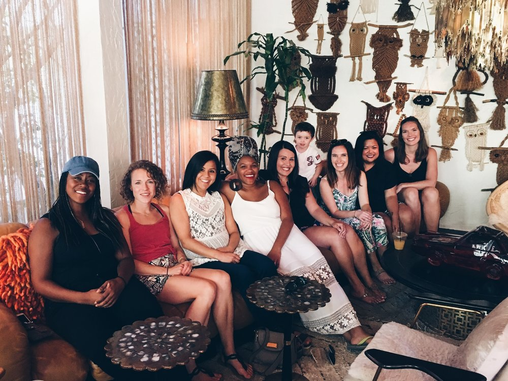 ladies who brunch & one little party crasher