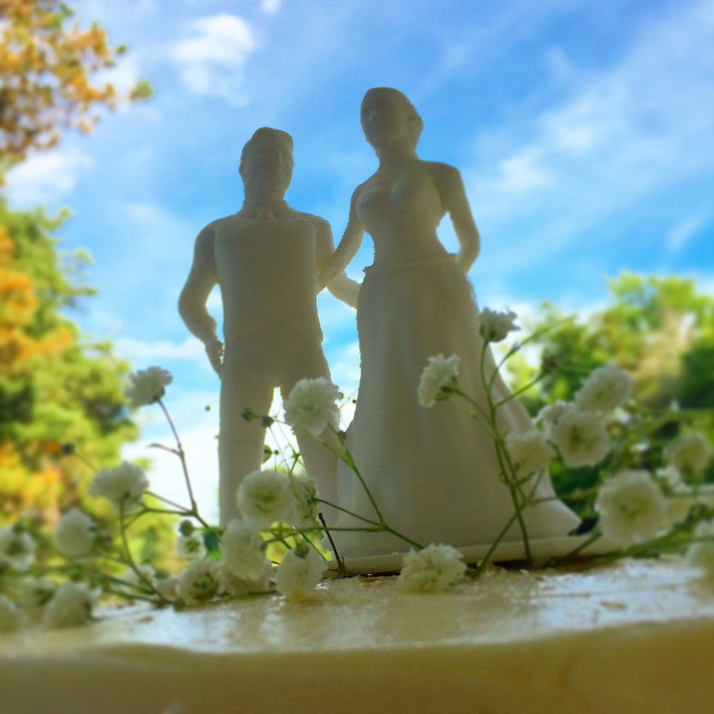 3D Printed Wedding Topper