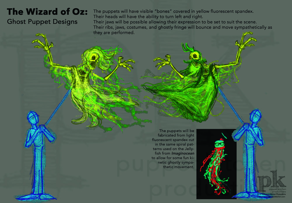 The Muny: Wizard of Oz, Ghost Character Designs
