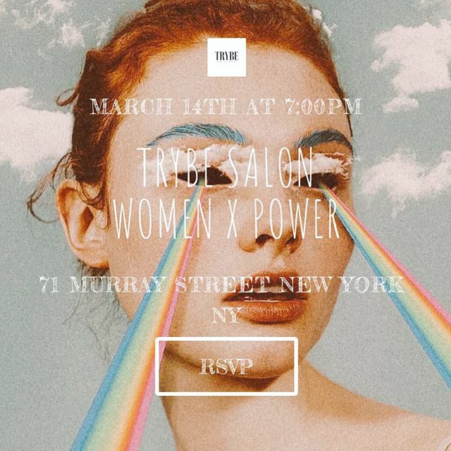 NY fam!! Join us on Thursday March 14th for TRYBE Salon: WOMEN X POWER  in celebration of International Women's Day! TRYBE Salon Series is a space to explore + mobilize around key issues. In partnership with the lady boss @tylergoldflower and @begoldish studio we will gather for a night of experiential education, UNCOVERING WHAT HAPPENS WHEN WOMEN TAKE THE REIGNS IN BUSINESS, POLITICS & THE ARTS, as we learn from a line-up of women who are changing the game including @laurenzander_coach : Life Coach to (nearly) every Lady Boss we know, Alessandra Biaggi @biaggi4ny NY State Senator, @mikiagrawal : Serial Entrepenuer + OG badass and @itsjackiecantwell representing the arts along with a guided meditation by the brilliant @guidedbybiet and a musical performance by Turkish Singer-songwriter @idilmese. We will close the night with an interactive art experience and a Female Makers Marketplace so we can all rally around and support our fave lady artisans and biz bosses.**If you are a female maker or artisan please reach out to chaya@trybe.us! We have a few slots open and would love to support!!** Also important⇢⇢This Salon supports the ladies but is open to humans of all gendered identities! Boys + men you are wanted and welcome.. we need your support now more than ever!! With love from all of our epic hosts @carli_ar @rosewelch @justinebean @biegzz and @ajsalty 💪🏽💥💥DM for invite link   SPACE IS LIMITED at the GOLDISH studio so please RSVP in advance  #internationalwomensday #trybesalon #womenxpower #womenempowerment #togetherwerise