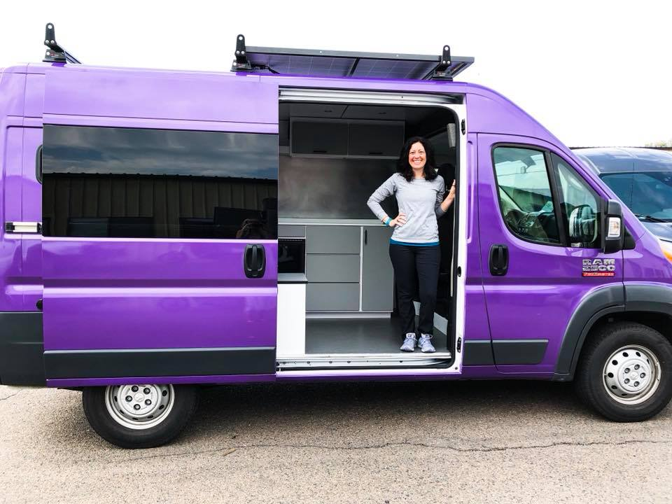 Alaina Ann  in her van, Dandy! Safe travels and thank you for letting us be a part of your new adventure!