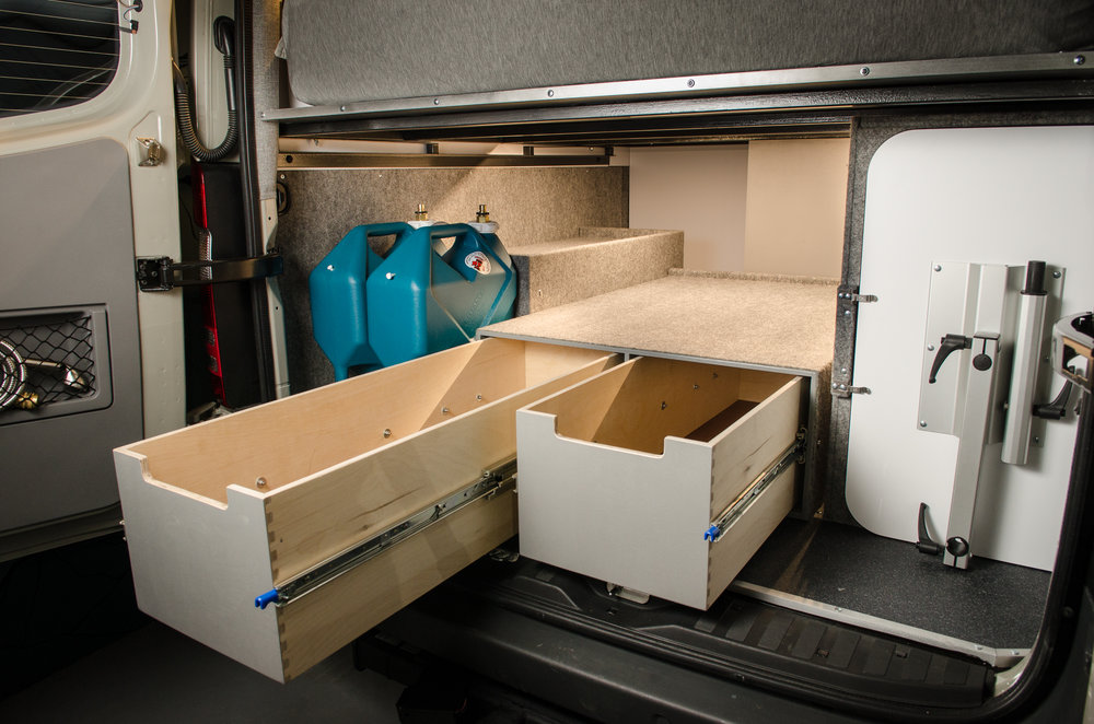 Vanlife Customs Sprinter Conversion Garage Storage