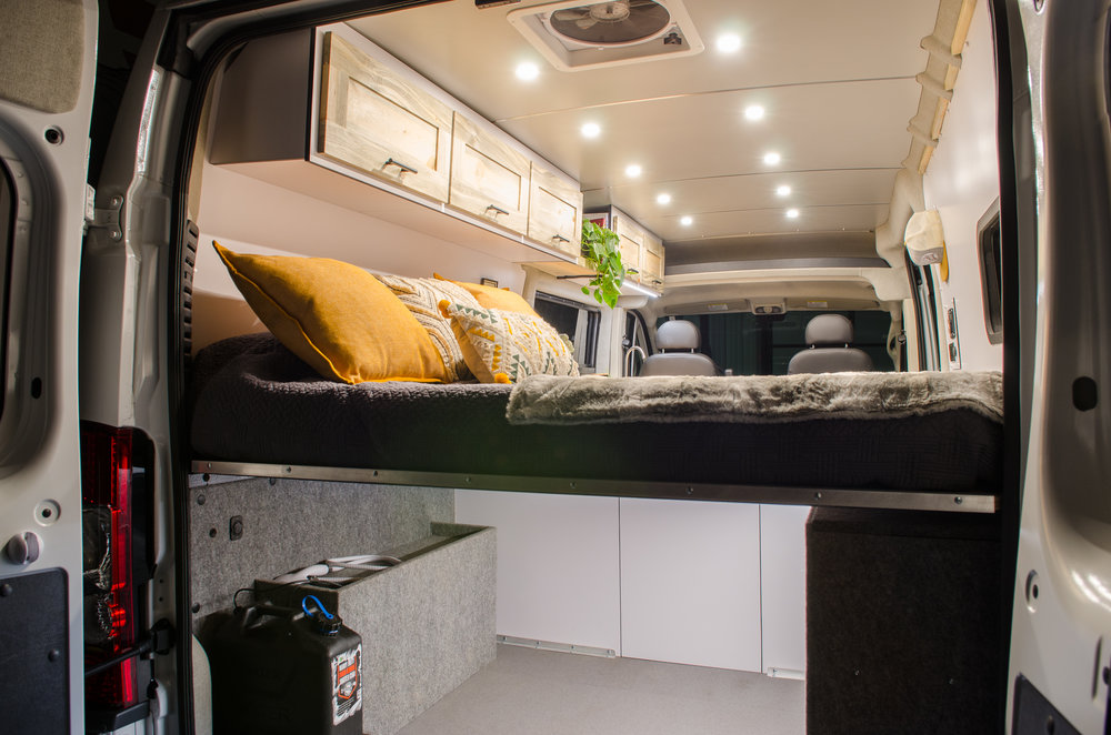 "Ponderosa: Vanlife Customs 159"" Promaster Garage"