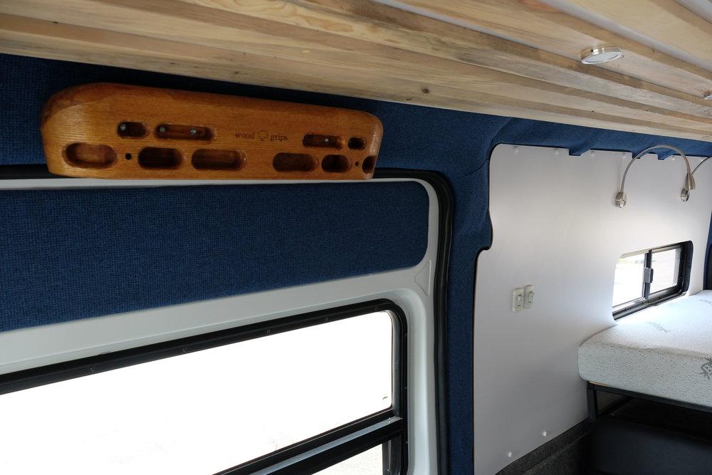Vanlife Customs: Camper Van Hangboard