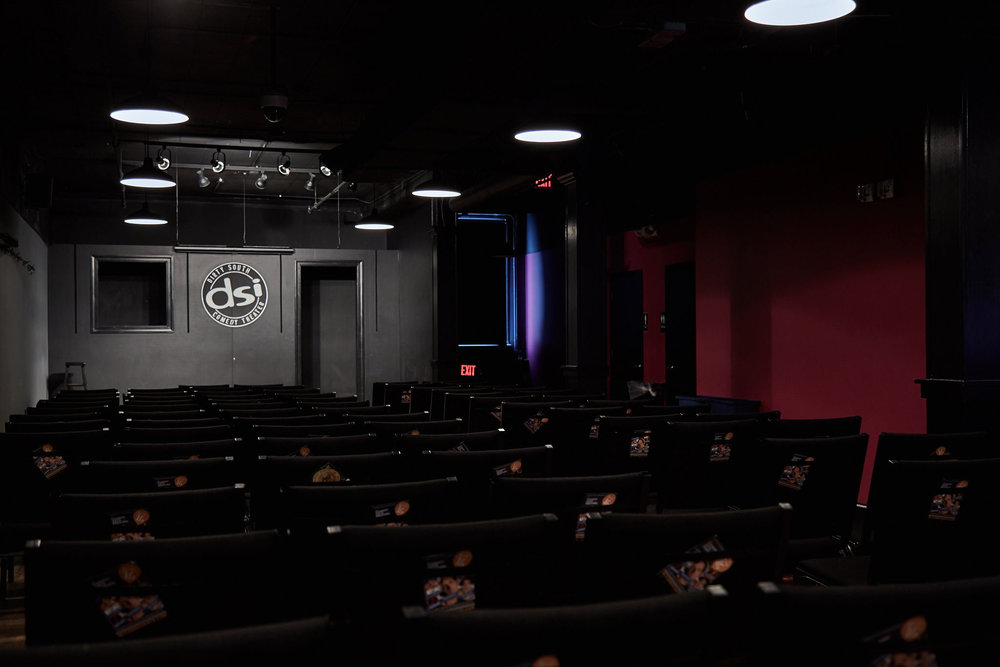 The theater seated can accommodate up to 130. Maximum capacity 249.
