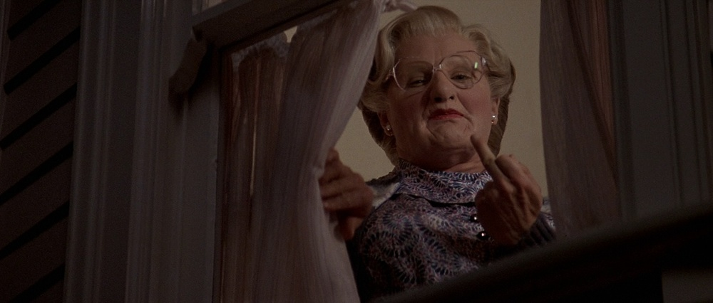 Double Feature will follow Mrs. Doubtfire this week. Do with this what you will.