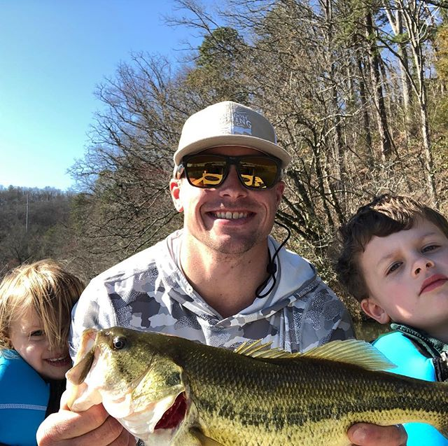 Good times on the home waters #takeakidfishing #828isgreat #franklinnc