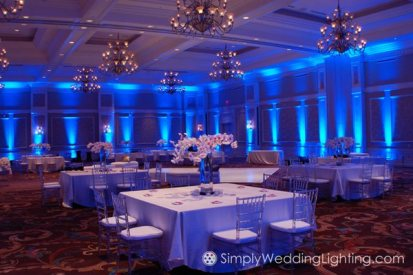 Blue is a popular Uplighting color