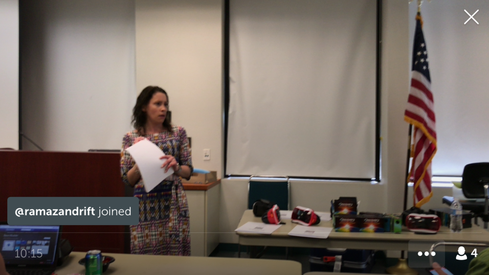 Discovery Education Virtual Reality on Periscope - Sarah Shares