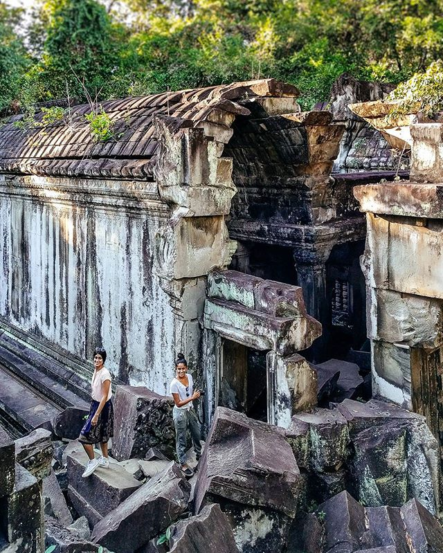Found: Beng Mealea, a temple left in ruins and lost to the jungles of Cambodia. ⏳ See our story, link in bio!