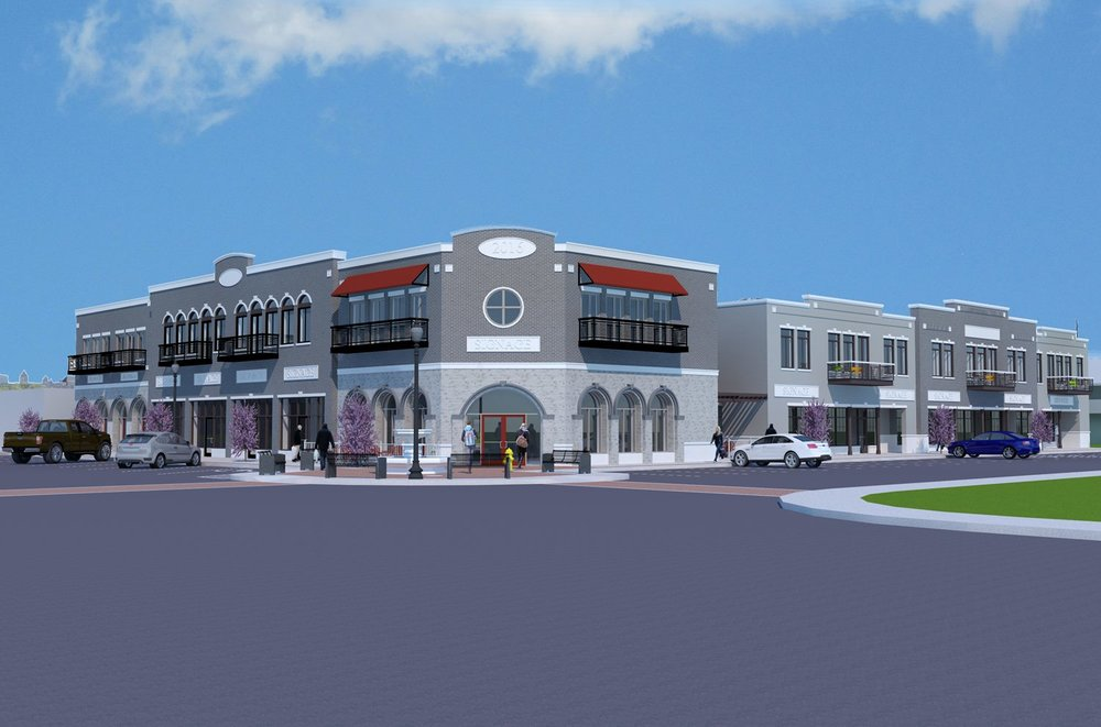The Mowery Development is a mixed use development currently under construction in the Redbud District.