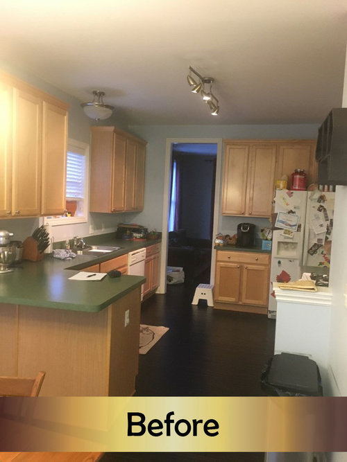 MODERN CANTON KITCHEN RENOVATION - Blog - Kingdom Construction and Remodel - Before+1+text