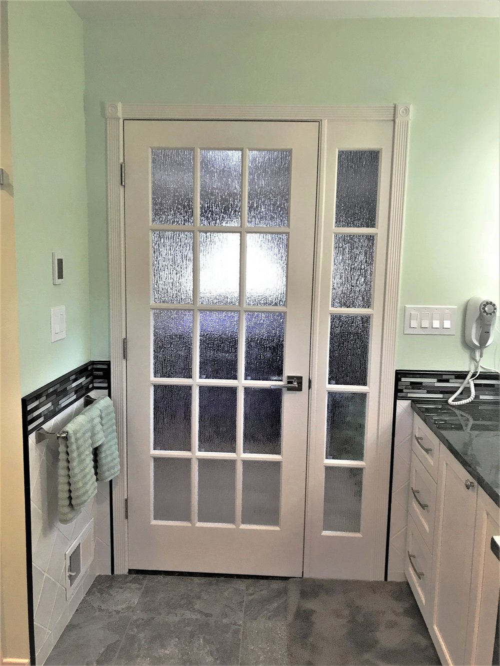 Bathroom door remodel