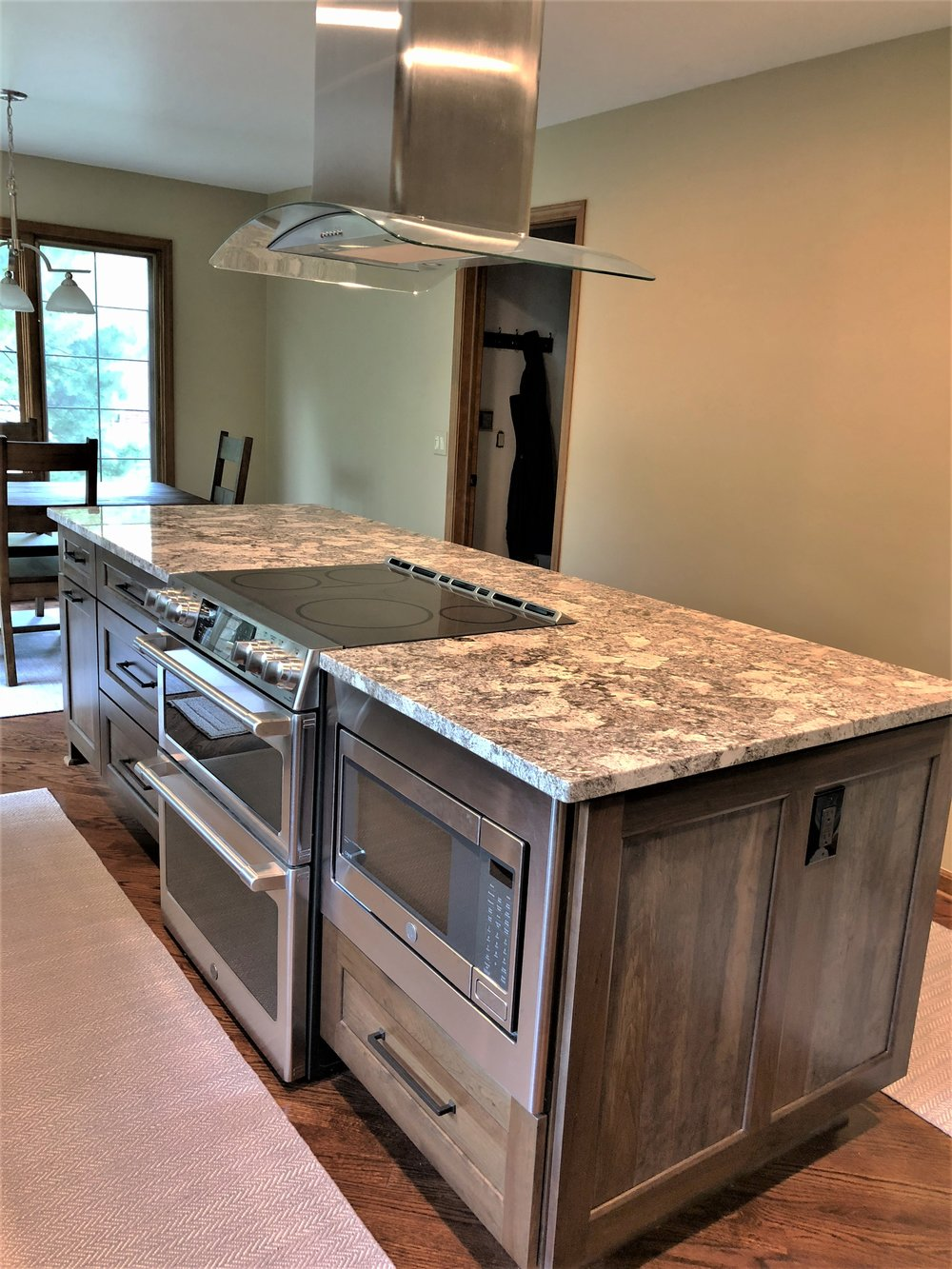 Updated kitchen island