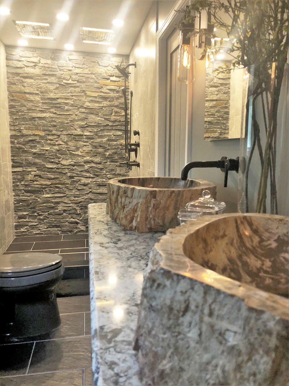 master bathroom renovation in canton kingdom construction remodel