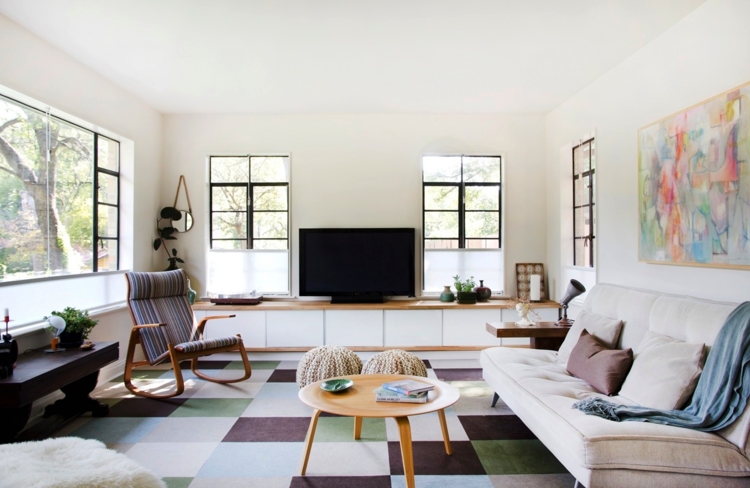 Design Trends We Love - Blog - Kingdom Construction and Remodel - checked-area-rug