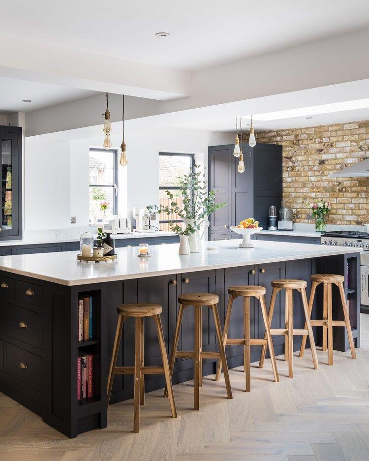 Design Trends We Love - Blog - Kingdom Construction and Remodel - Shaker+kitchen+island%23island+%23kitchen+%23shaker