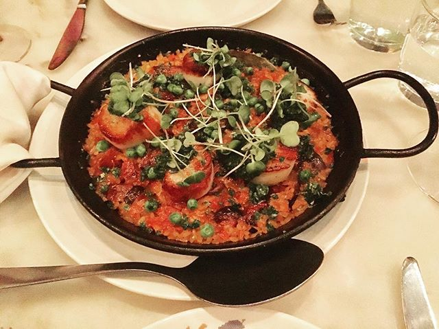 Tonight's special... Paella de Vierias. You haven't had Tapas (in Canada) until you've been here. @patriato #patria #torontolife #torontoeats #torontofoodie