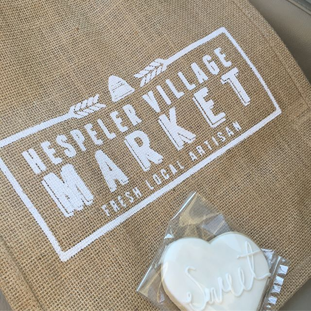 Stopped by the @hespelervillagemarket today. Every Friday until 7pm! Local, local, local! Great to see tons of vendors and families enjoying their Friday! @thesassyytomato  @blisscreations.kw